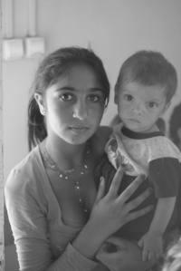 Esmeralda and her nephew Paulo