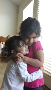 samara and aliyah hug 10-2014